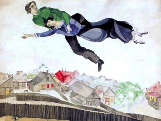 Chagall, Sobre la ciudad