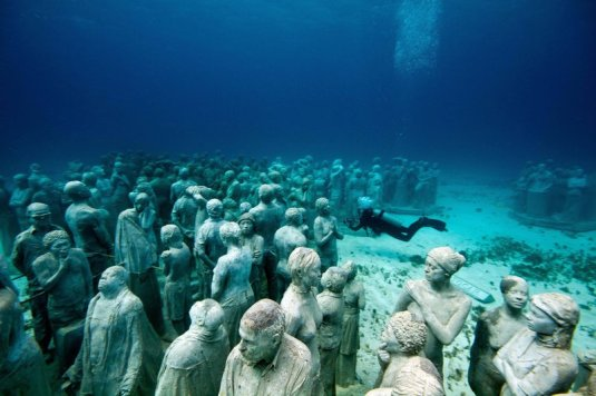 Underwater Sculpture Park Nears Completion