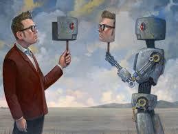 hombre y robot